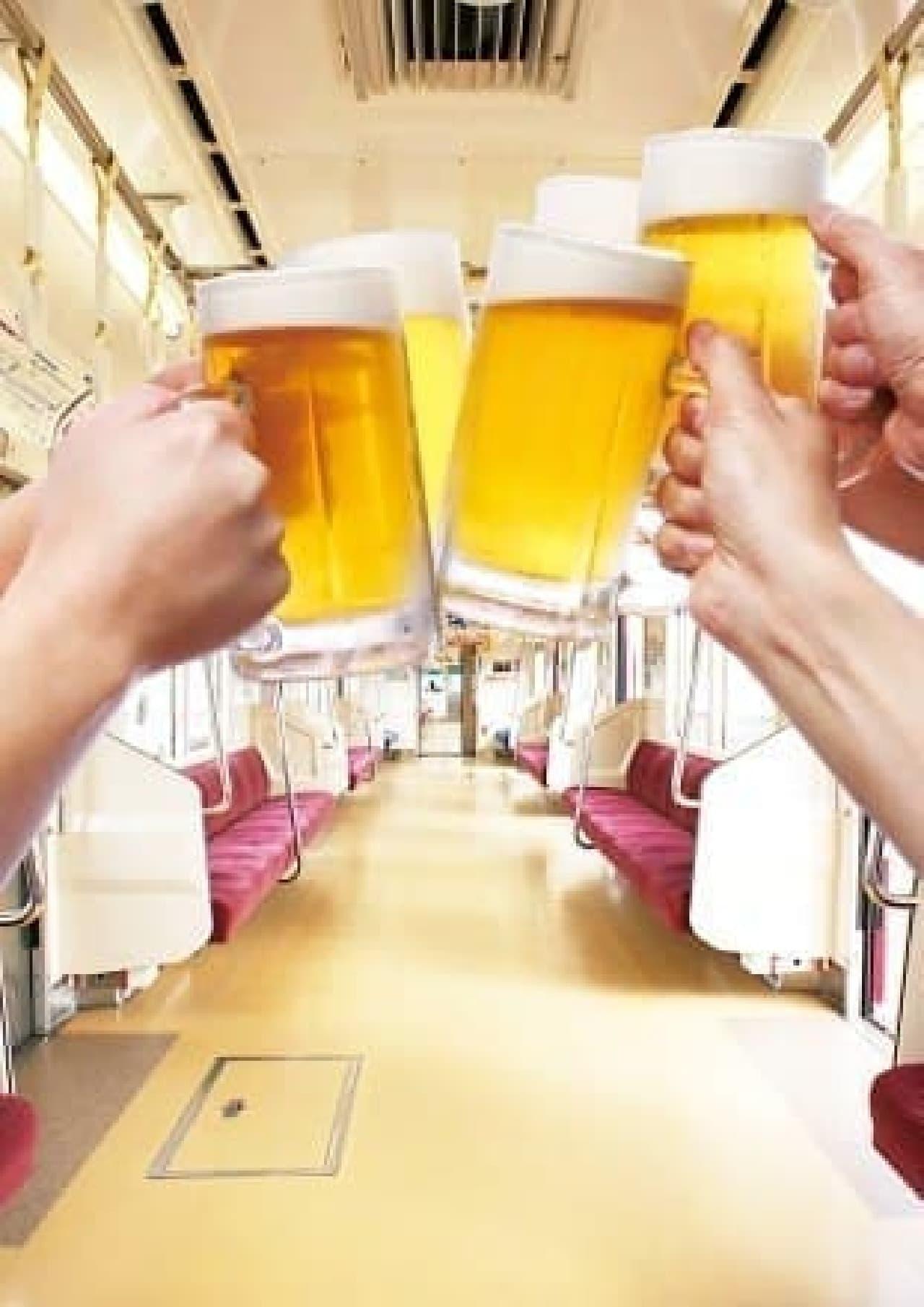 京急×キリンビール横浜工場90周年記念ビール電車