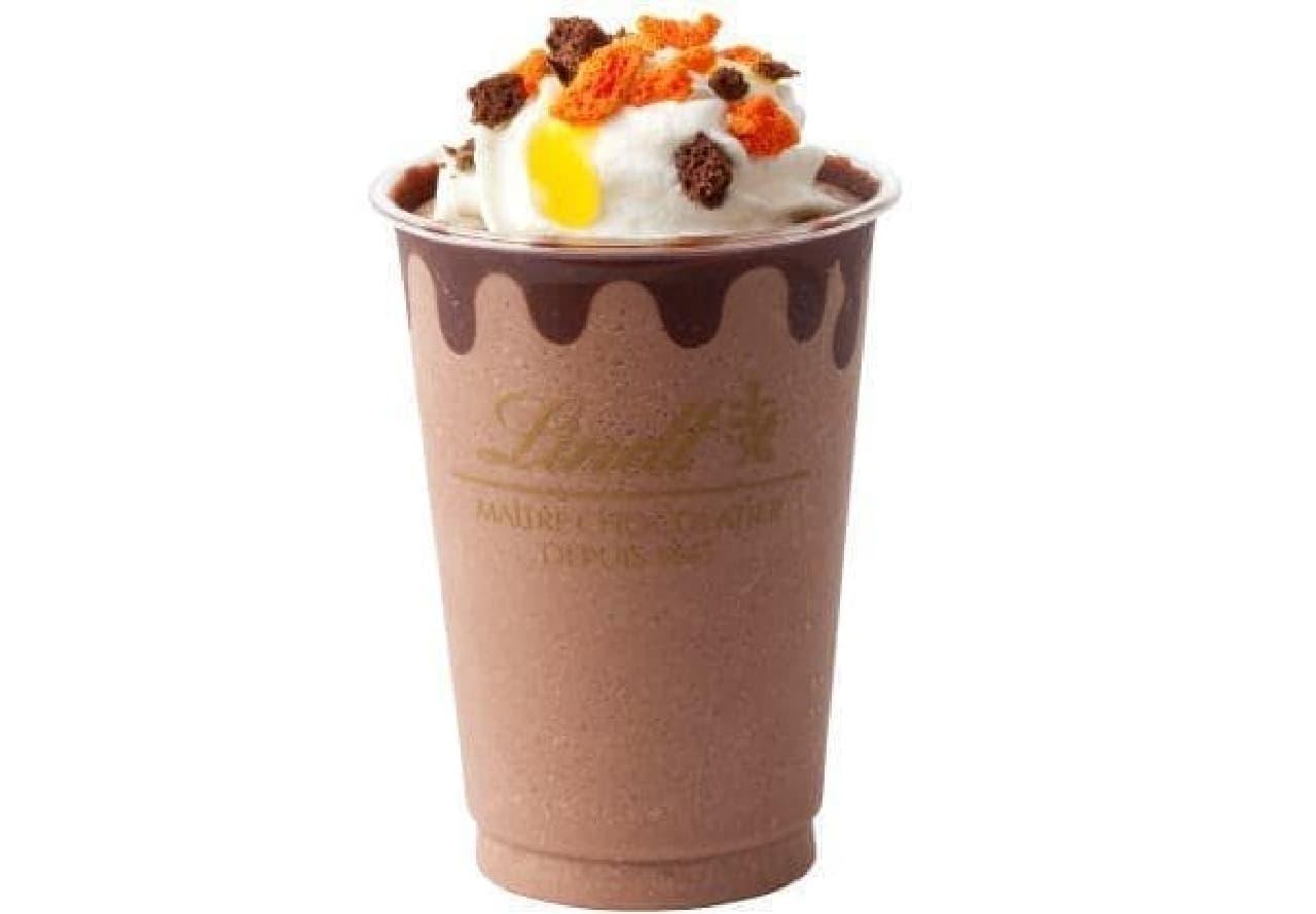 リンツショコラカフェ「リンツ ダークチョコレートオレンジアイスドリンク」
