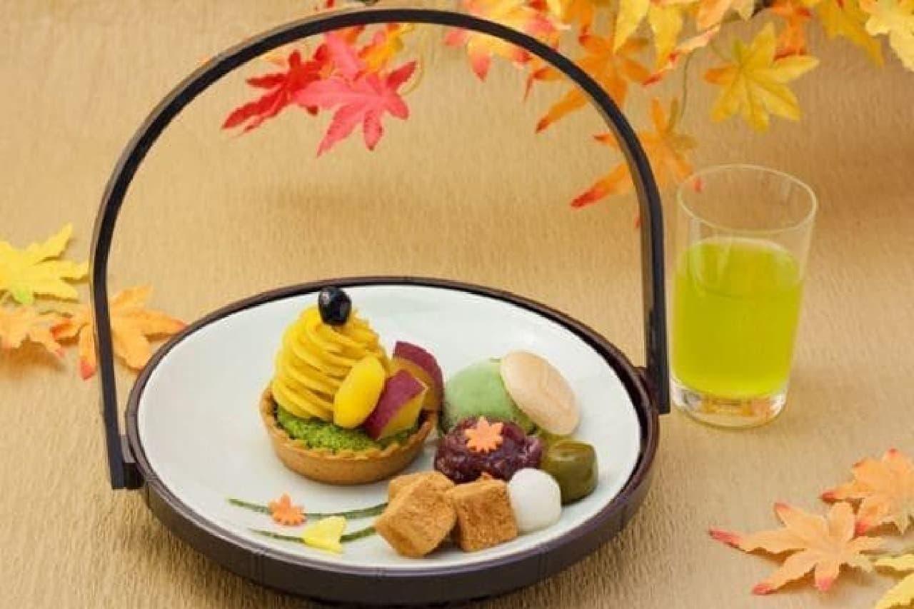 茶寮都路里「秋の花籠 -壷切茶を添えて-」