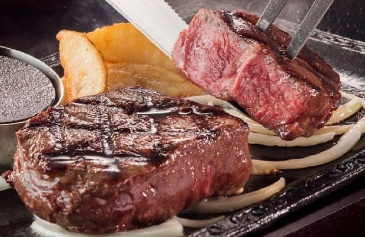 ステーキガスト「厚切りミスジステーキ」