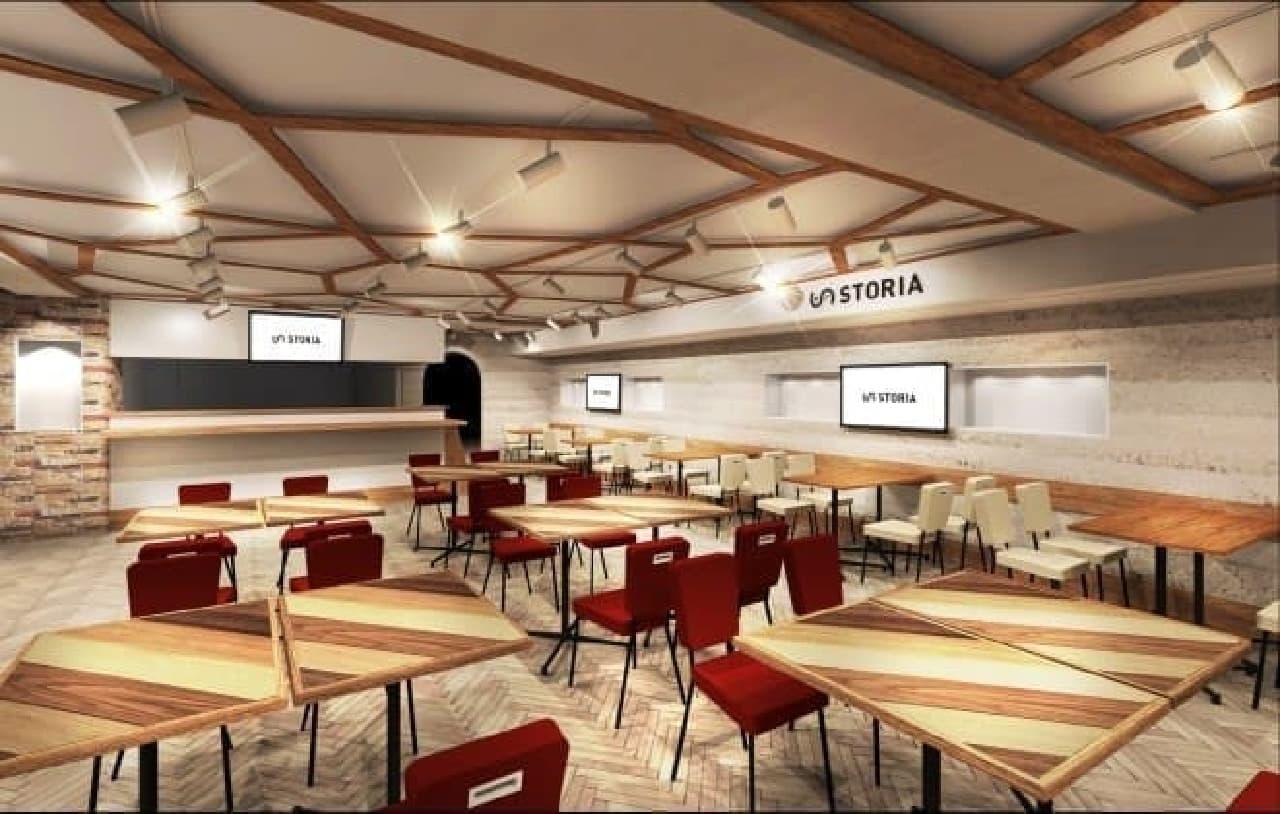 ゲーム観戦をテーマとしたシアターカフェ&ダイニング「STORIA(ストーリア)」