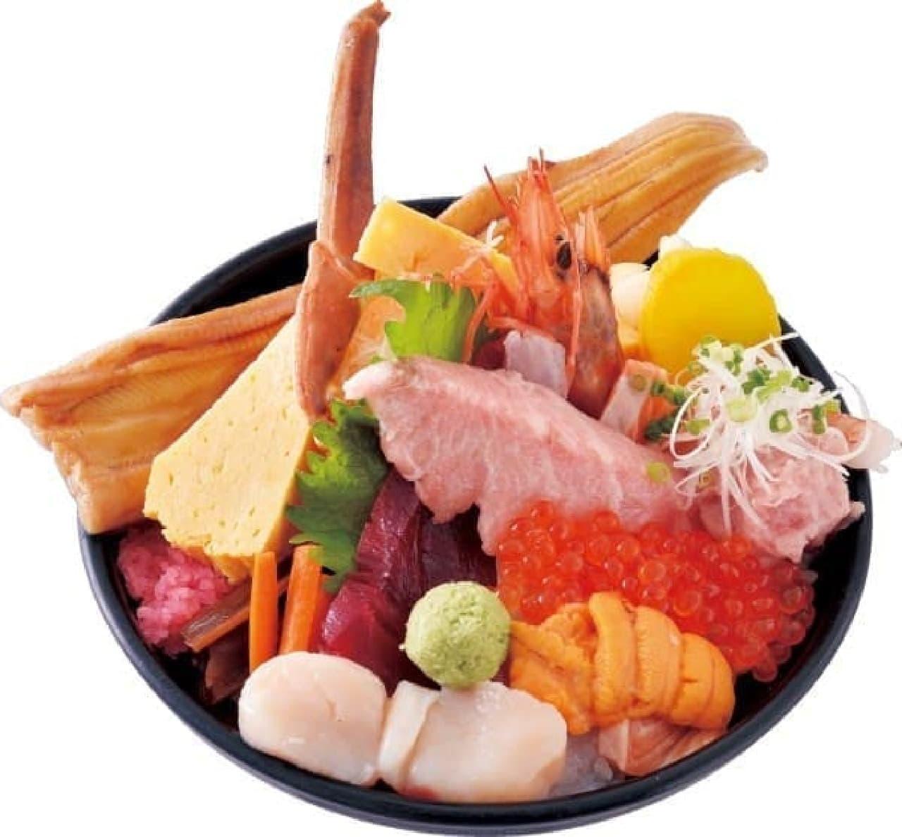 梅丘寿司の美登利「超豪快!贅沢ちらし」