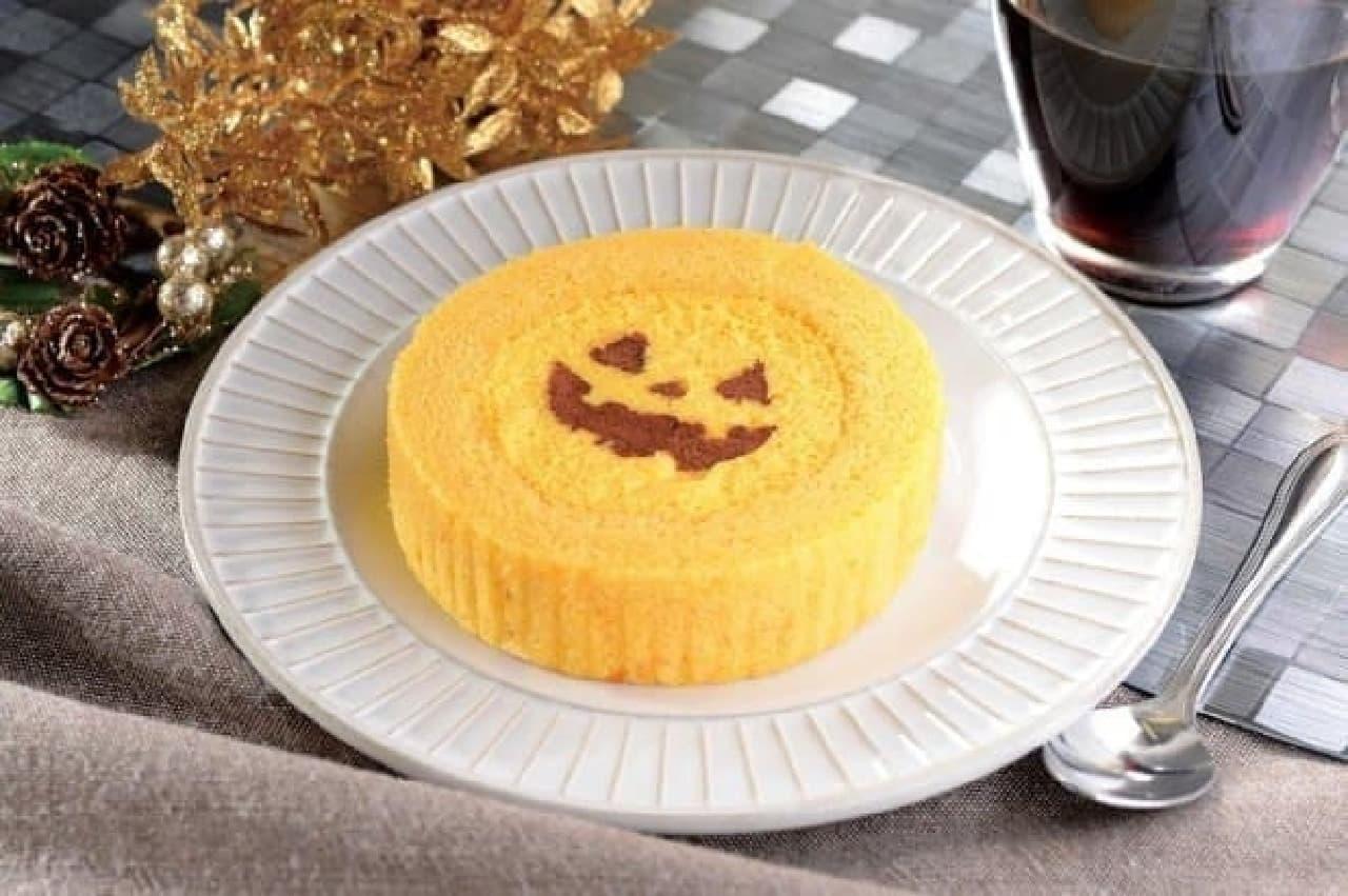 ローソン「えびすかぼちゃのロールケーキ」、ハロウィン向け