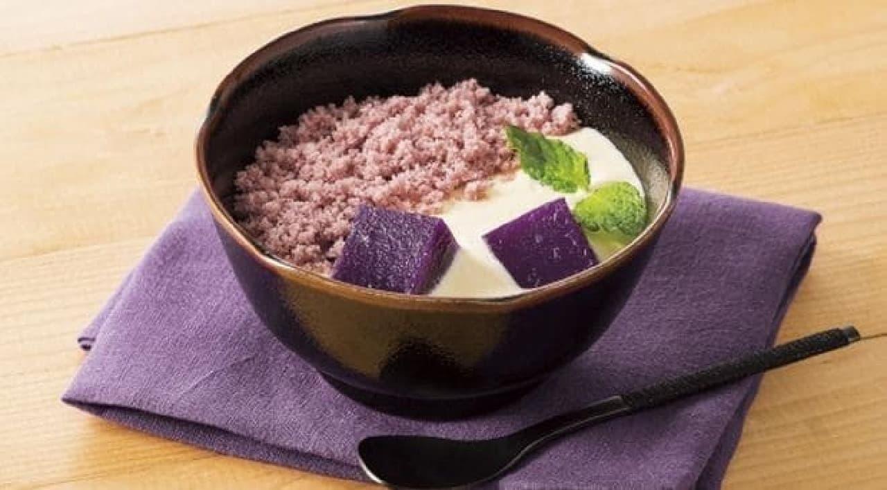 デニーズ「紫芋と黒ごまのティラミス風~南九州産紫芋使用」