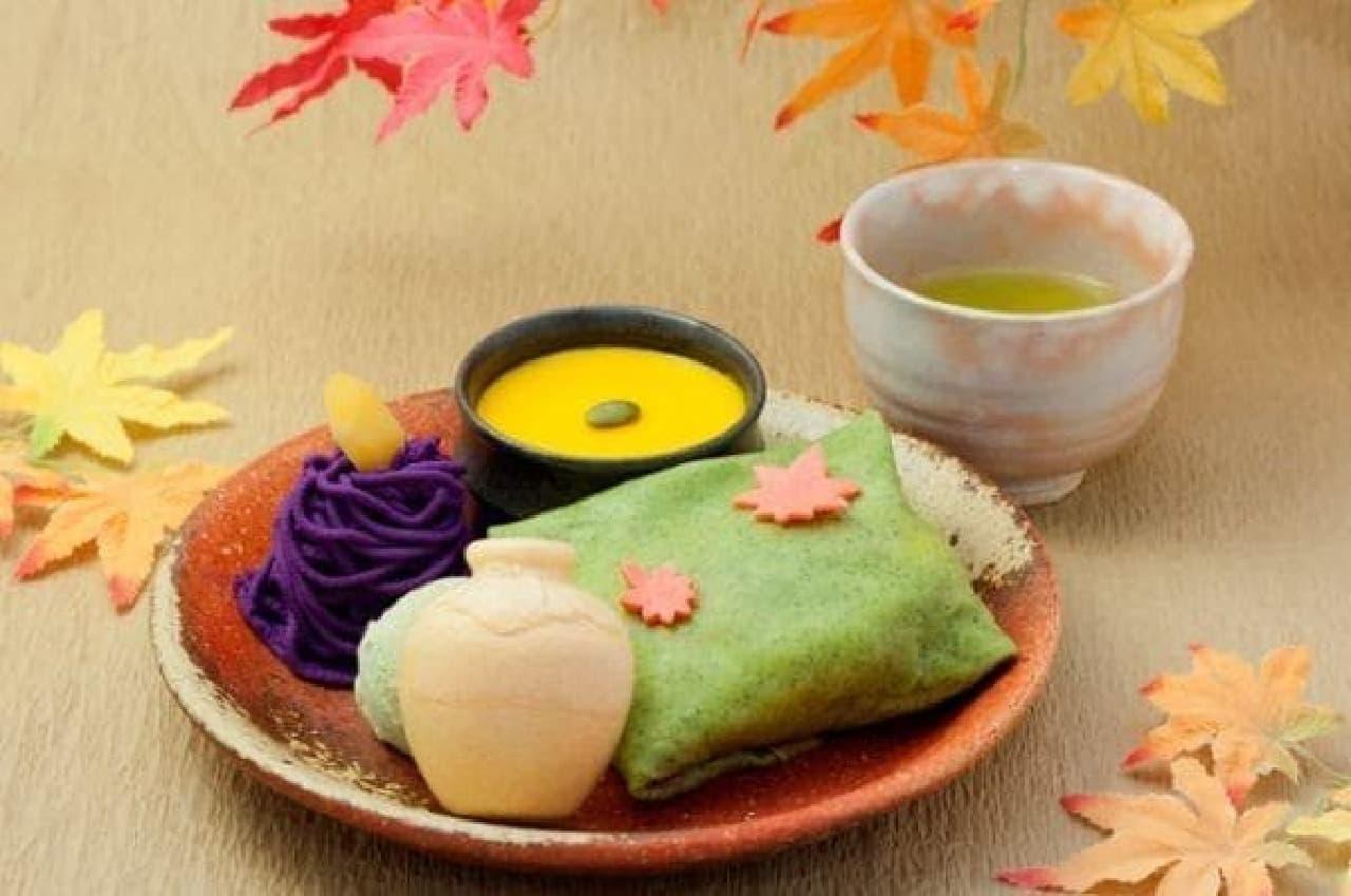 茶寮都路里京都伊勢丹店限定「壷切茶のふくさ」