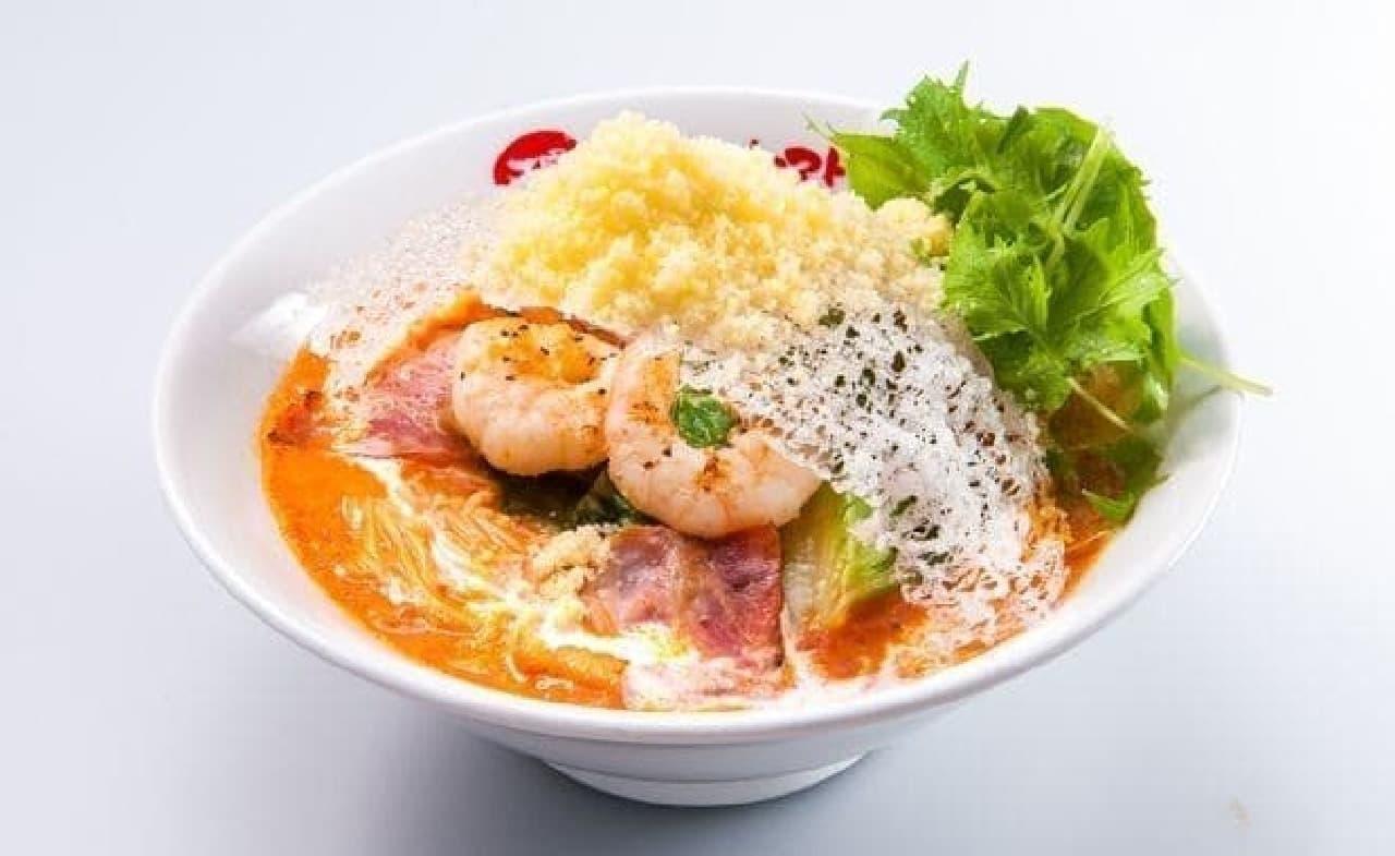 太陽のトマト麺「ありがとうのエビクリ&ちぃ~ず!」