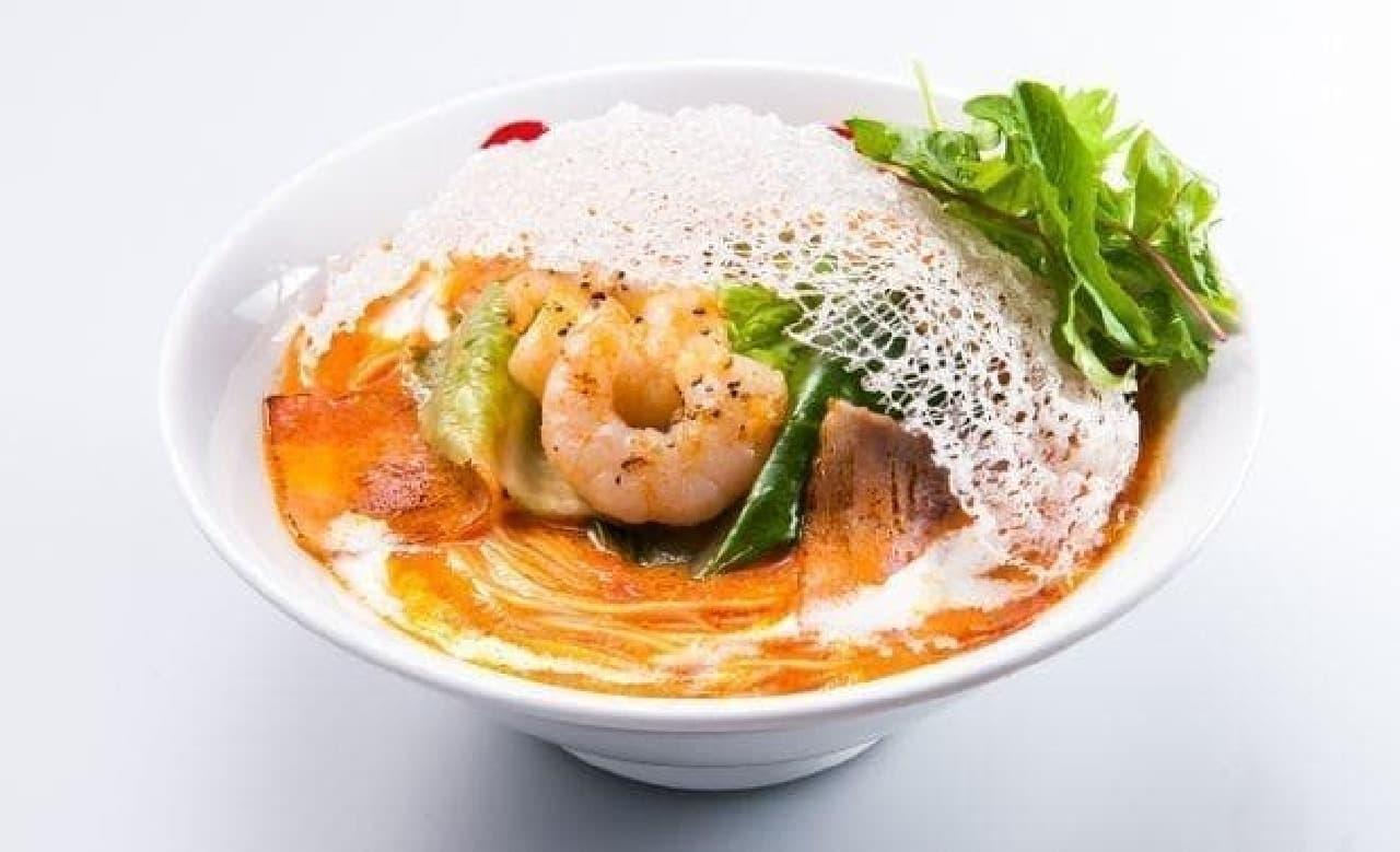 太陽のトマト麺「ありがとうのエビクリ!」