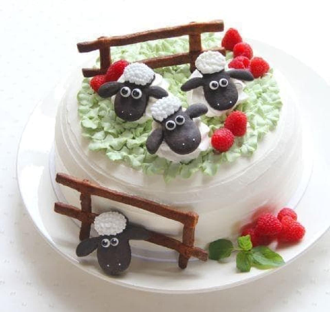 ひつじのショーンファームカフェ with サンデーブランチ「ショーンファームフルーツショートケーキ」
