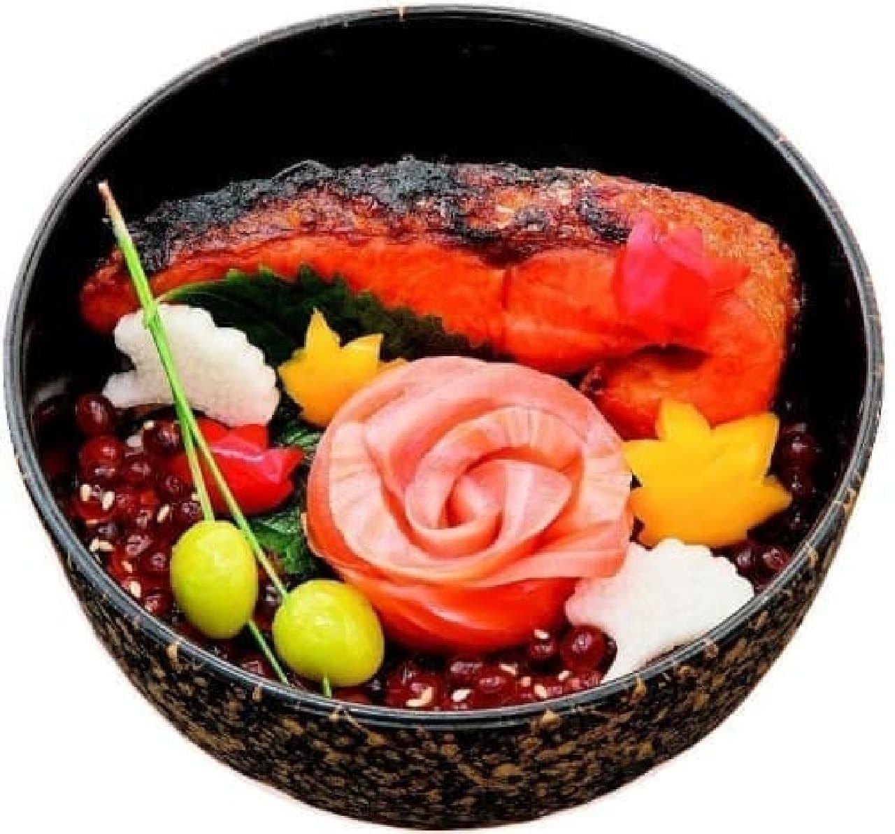 築地 味の浜藤 醍醐味「秋味の三色丼」