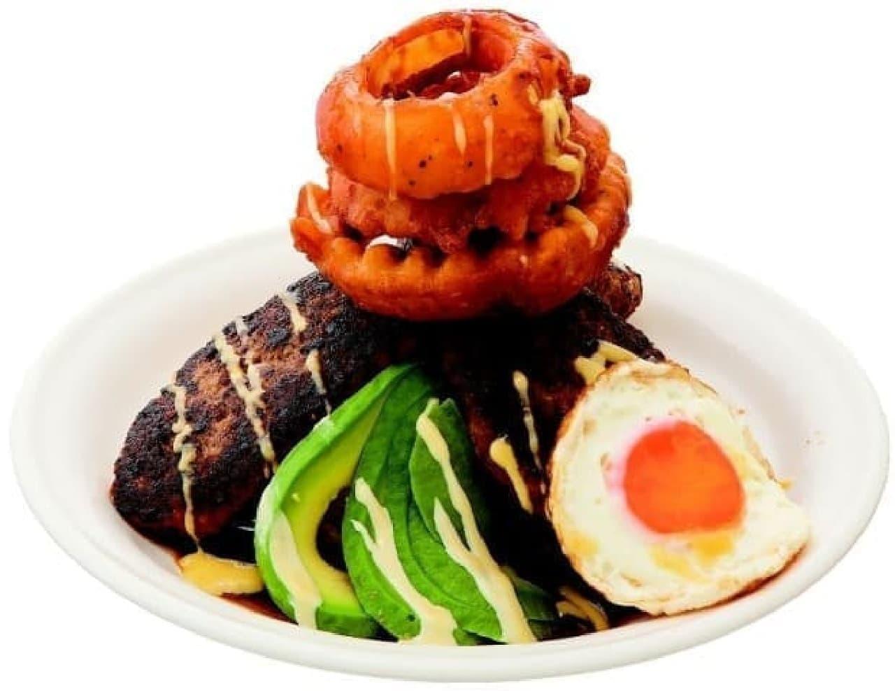 HAMBURG WORKS「ロコモコメガ丼」