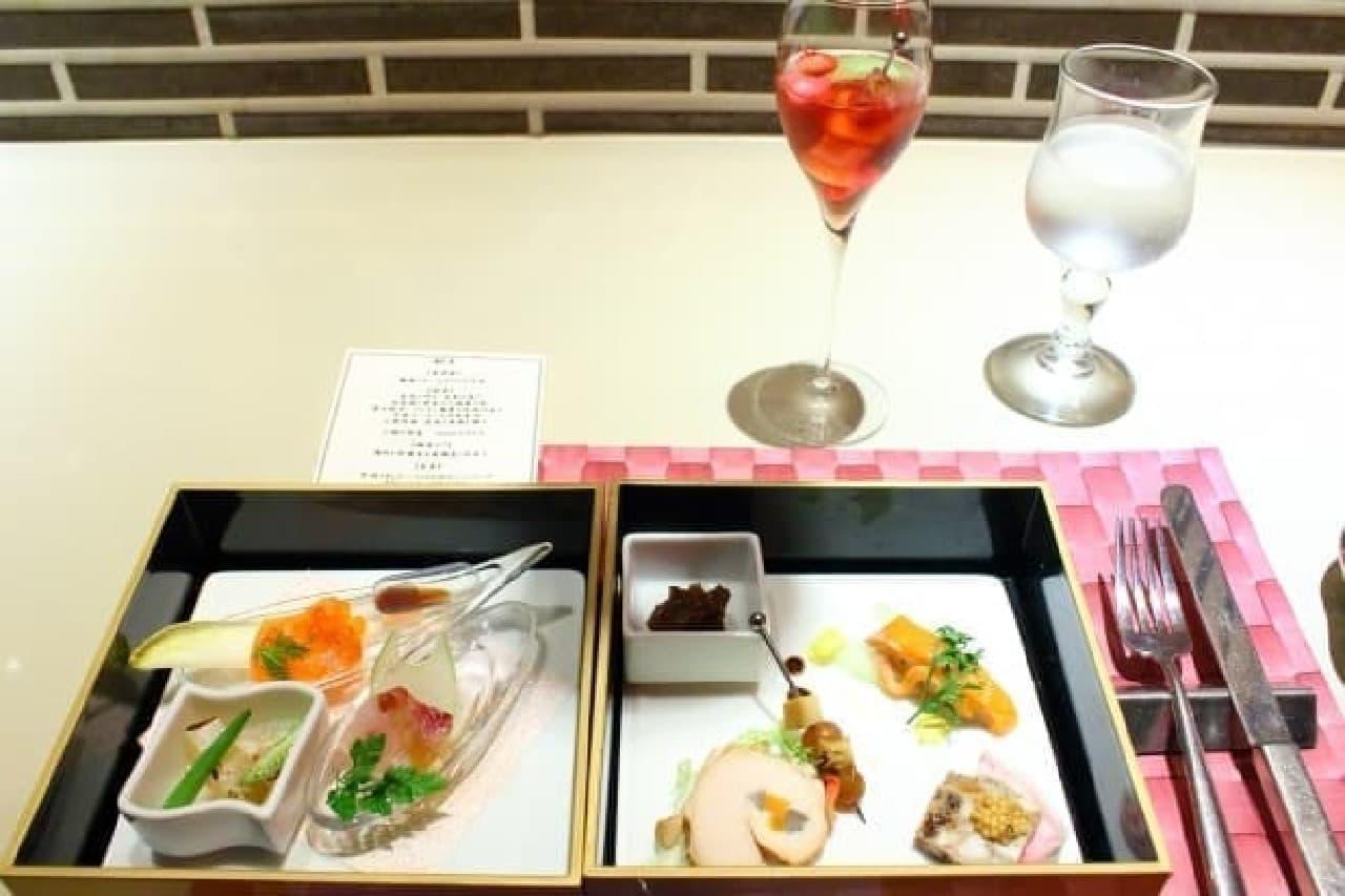 tetote、前菜と鮮魚