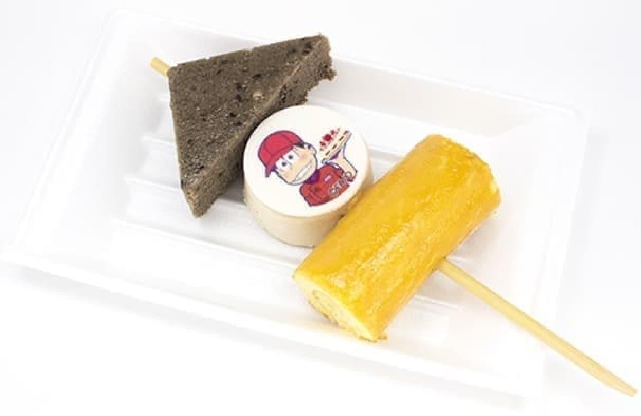 スイーツパラダイス、「おそ松さん」とコラボした「おでんケーキ」