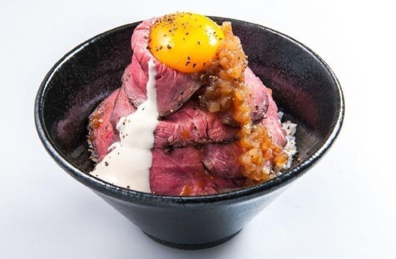 ローストビーフ油そば ビースト「トルネードローストビーフ丼」