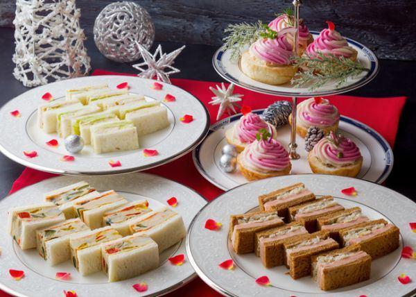 ホテルニューオータニ大阪「スイーツ&サンドウィッチビュッフェ ~クリスマスケーキと栗とパンケーキ~」