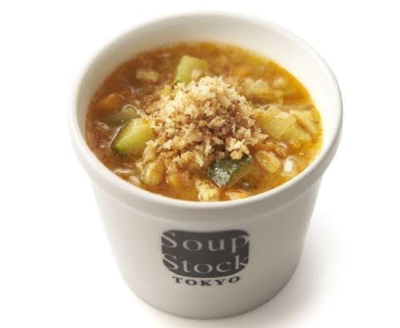 """スープストックトーキョー「""""ゴッホ""""の麦畑のスープ」"""