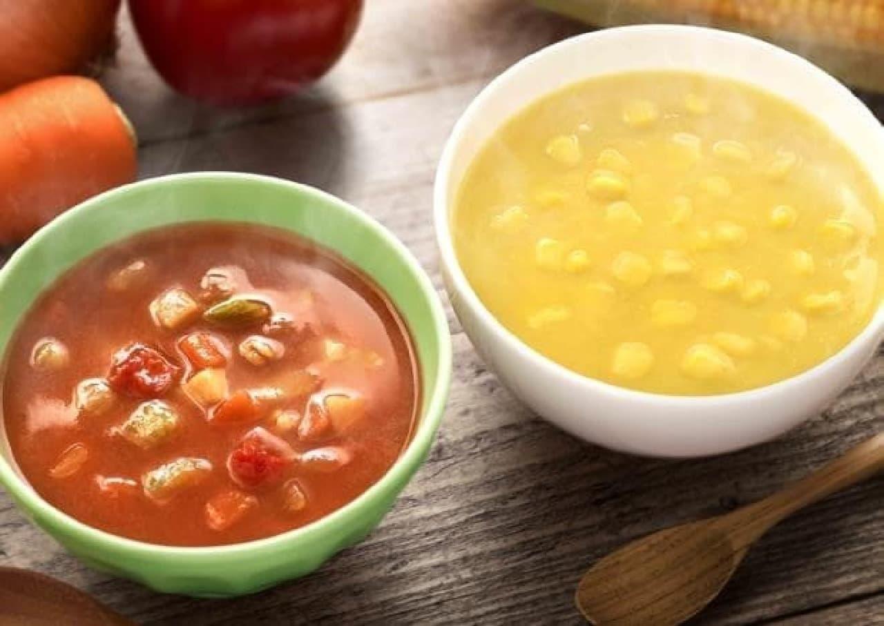 マクドナルド「ミネストローネ」「コーンクリームスープ」