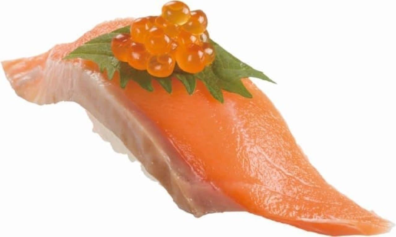 スシロー「天然秋鮭いくらのせ」