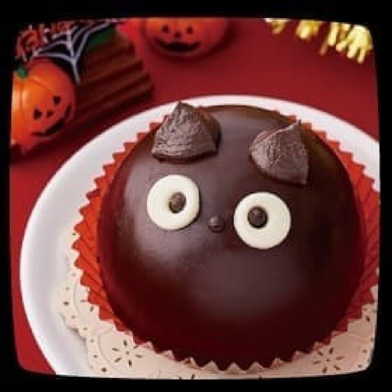 セブン-イレブン「ハロウィン 黒猫チョコケーキ」