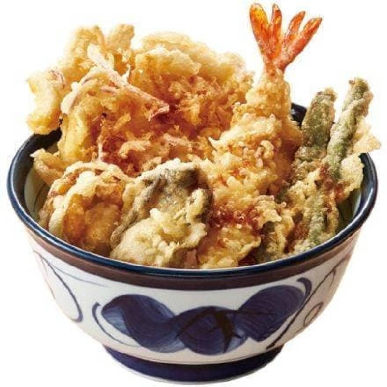 てんや「かきとホタテの海鮮天丼」
