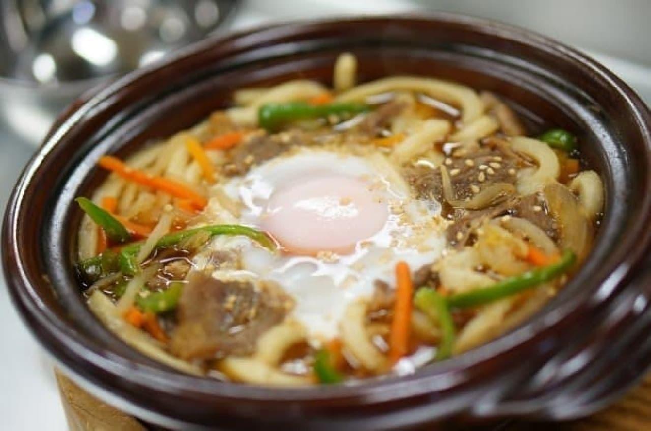 麺屋通りイオン三笠店(北海道三笠市)内の丸亀製麺「三笠ジンギスカンうどん」