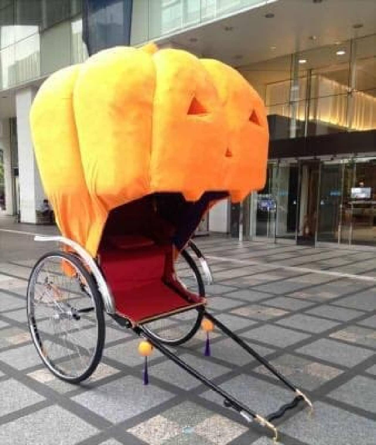 新宿高島屋 かぼちゃの人力車