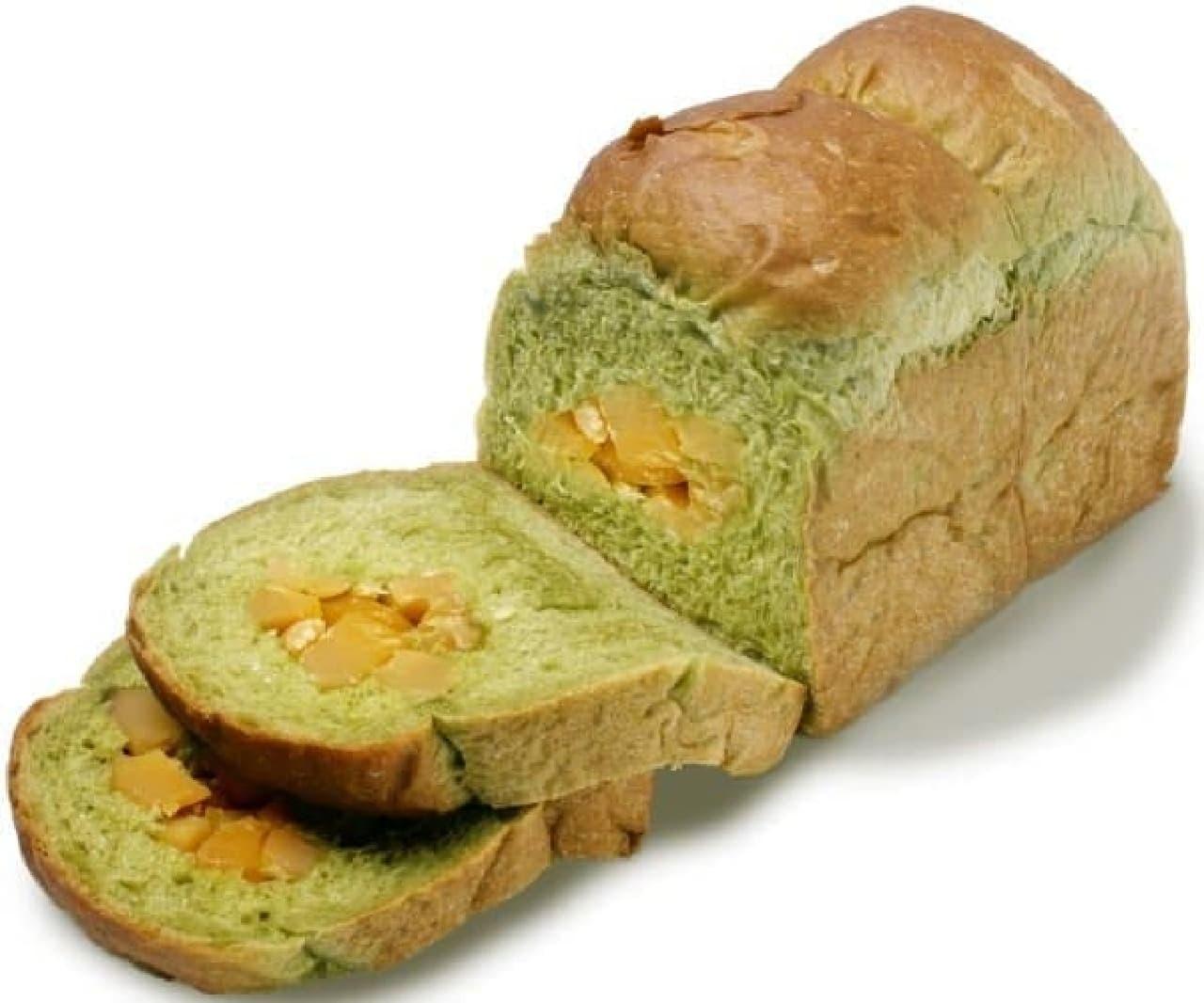 ル ビアン北千住マルイ店「宇治抹茶と栗の食パン」