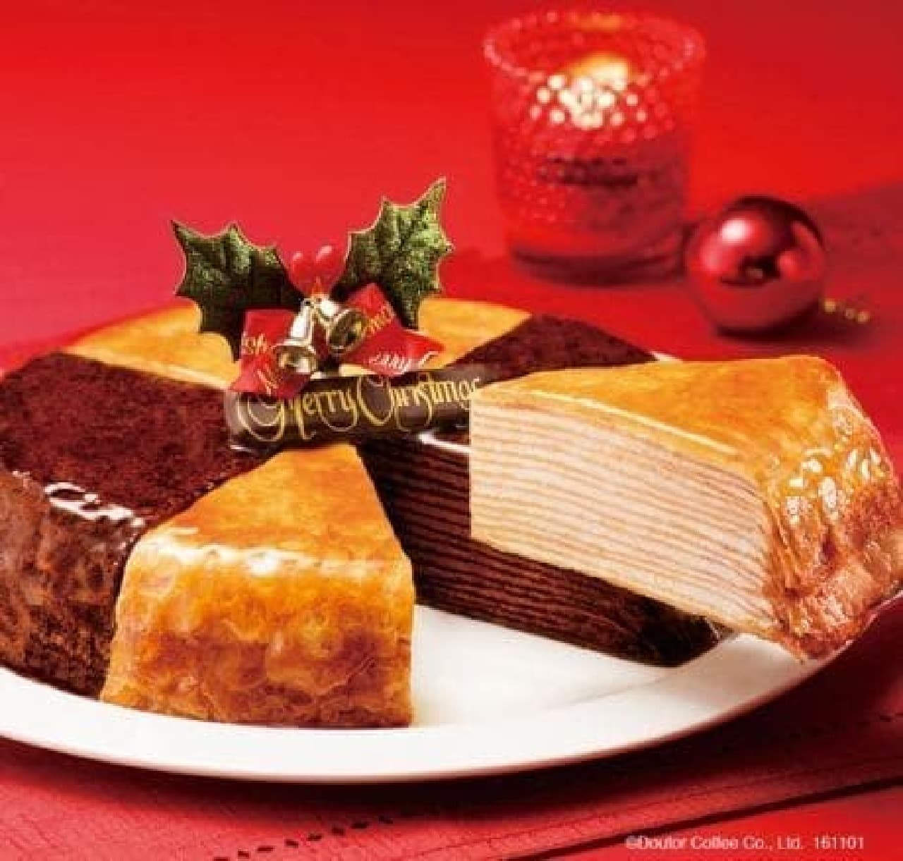 ドトールコーヒー「クリスマスミルクレープ」