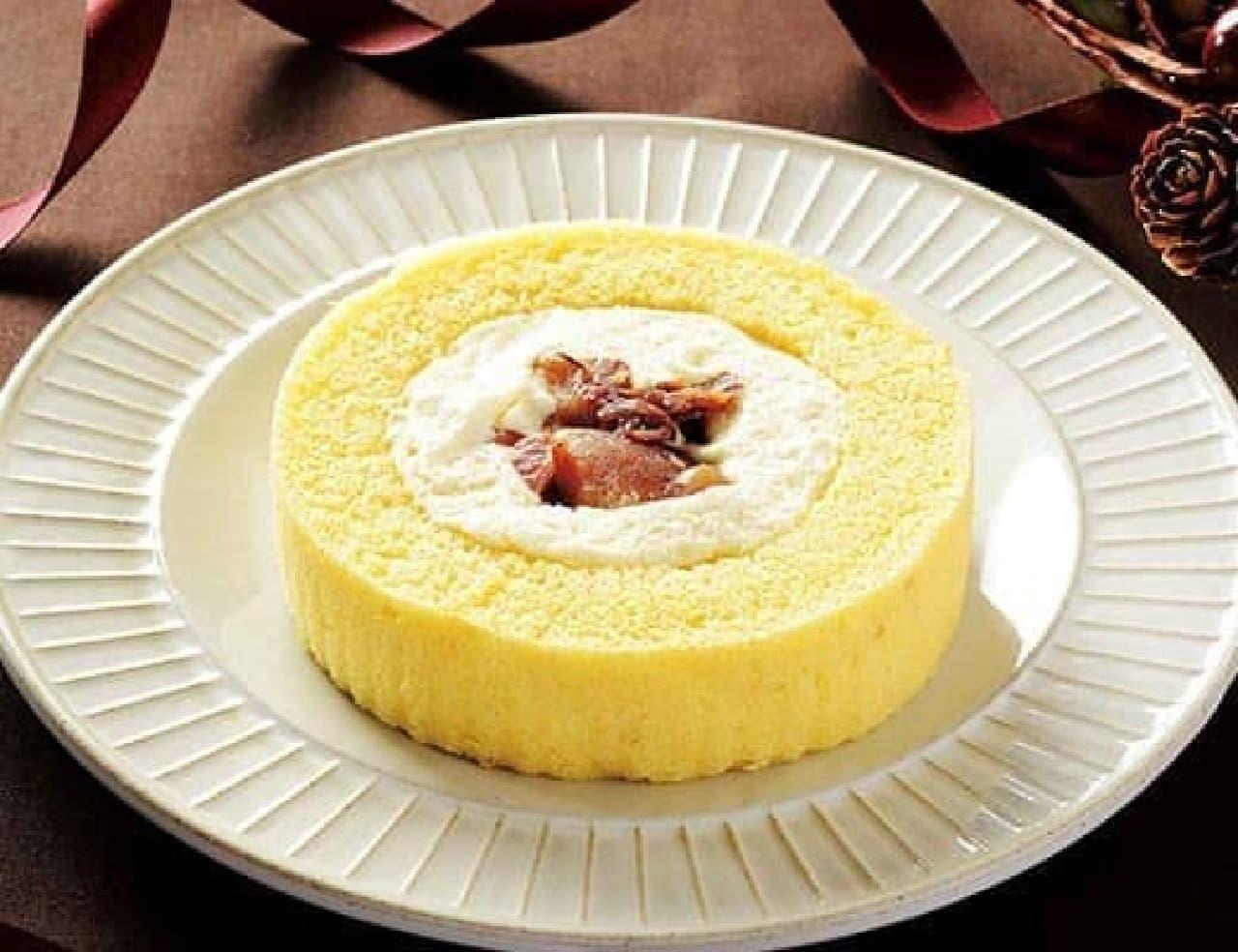 ローソン 和栗のロールケーキ