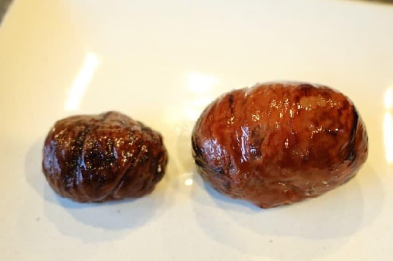 代田橋バルawaited 恵那和栗のモンブランパフェの、渋皮煮
