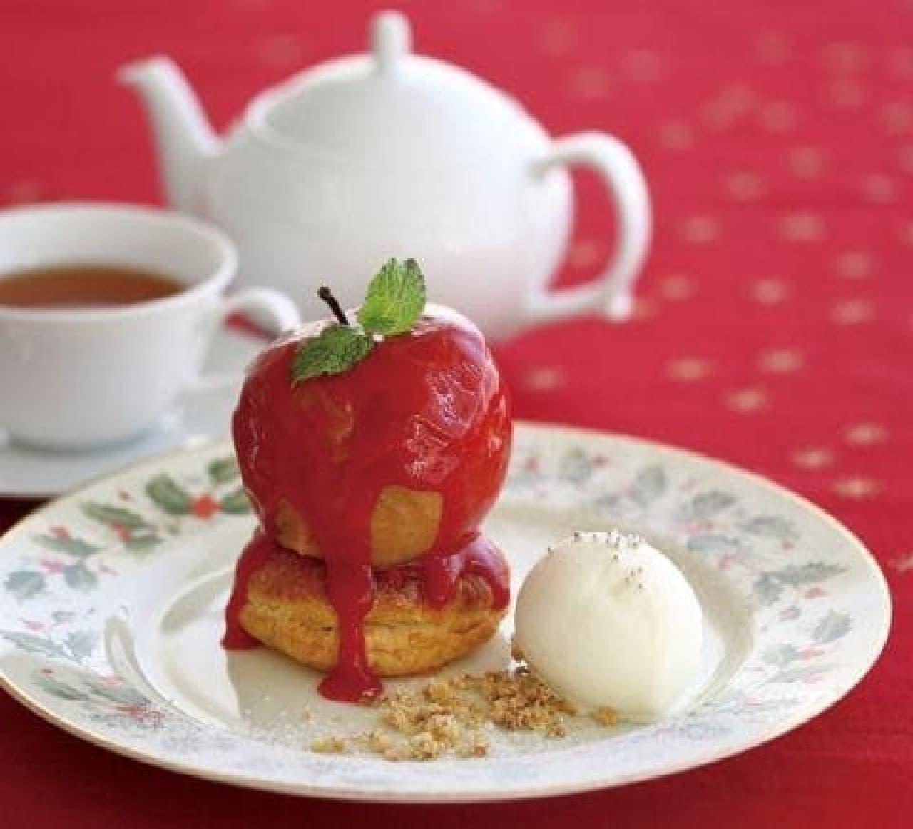 アフタヌーンティー・ティールーム「丸ごと林檎のキャラメルアップルパイ」