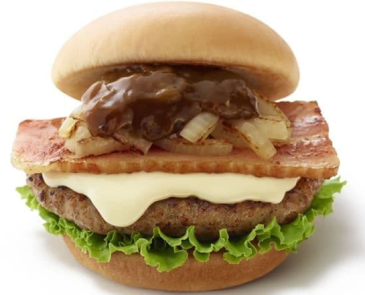 モスバーガー「とびきりハンバーグサンド<国産ベーコン&チーズ>」
