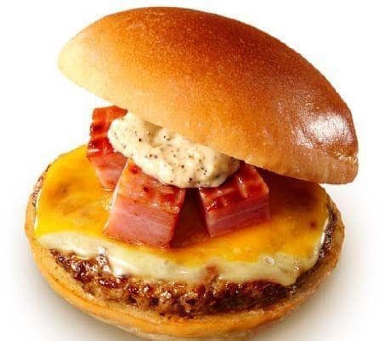 ロッテリア「熟成角切りベーコン絶品チーズバーガー」