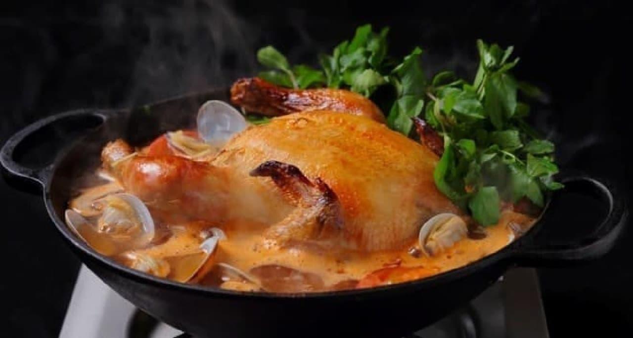 アロハアミーゴ「丸鶏とクレソンの鍋(フリフリ鍋)」