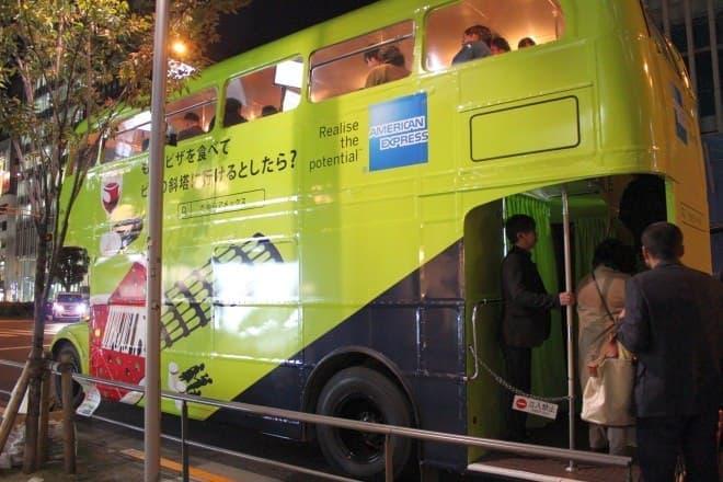 アメリカン・エキスプレスのグルメツアーバス