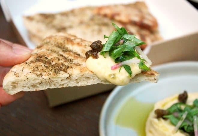 THE APOLLO「イエローエンドウ豆のディップとピタブレッド」
