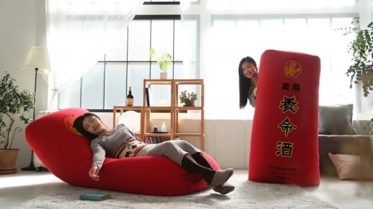 養命酒製造「つらい冷え性、胃腸の不調に薬用養命酒。養命酒デカふにゅ抱き枕セットプレゼントキャンペーン」