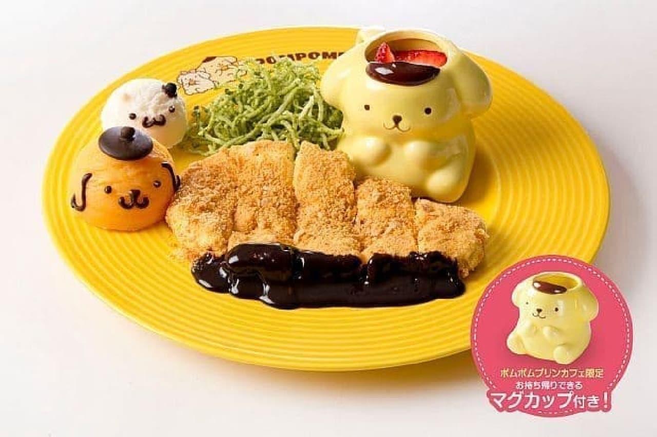 ポムポムプリンカフェ「え!?みそカツ?本物そっくり!レアチーズケーキ」