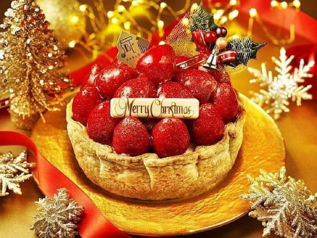 パブロ「たっぷりいちごのクリスマスチーズタルト-贅沢ver.-」