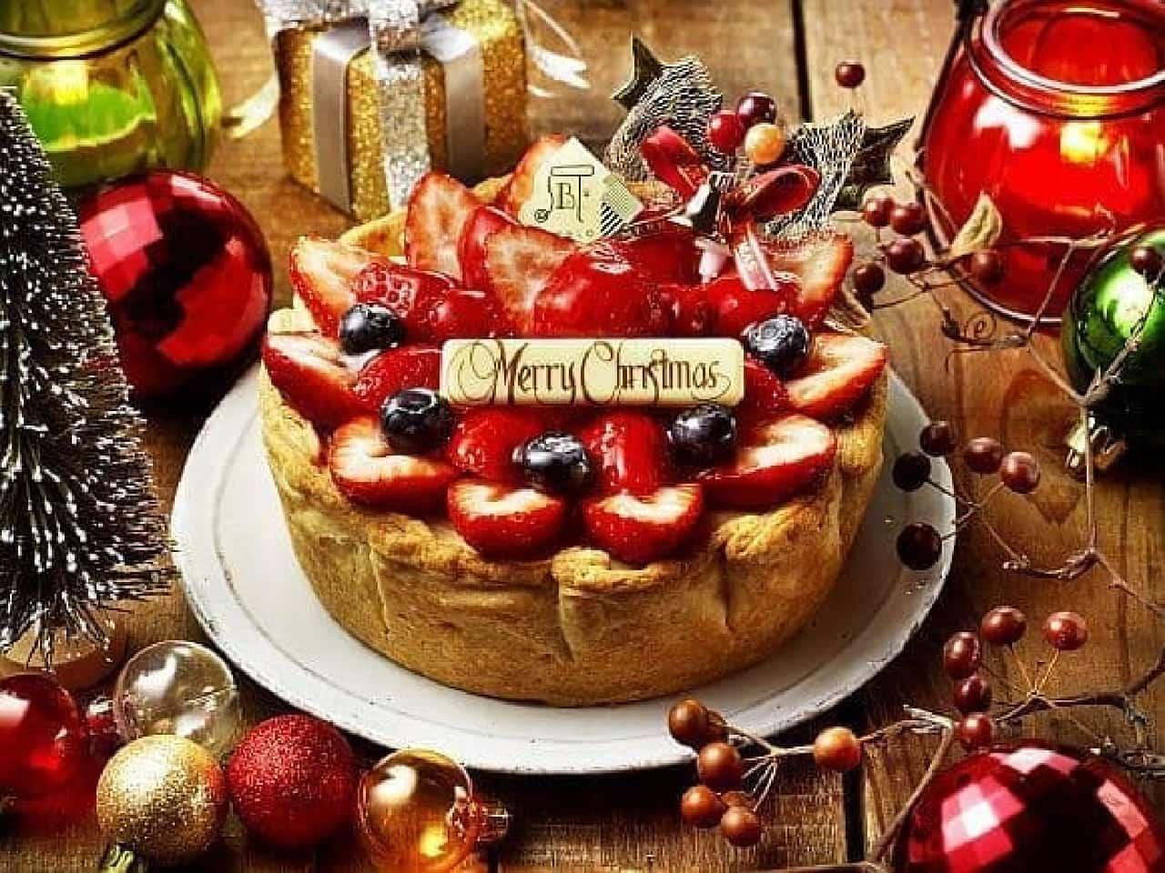パブロ「たっぷりいちごのクリスマスチーズタルト」