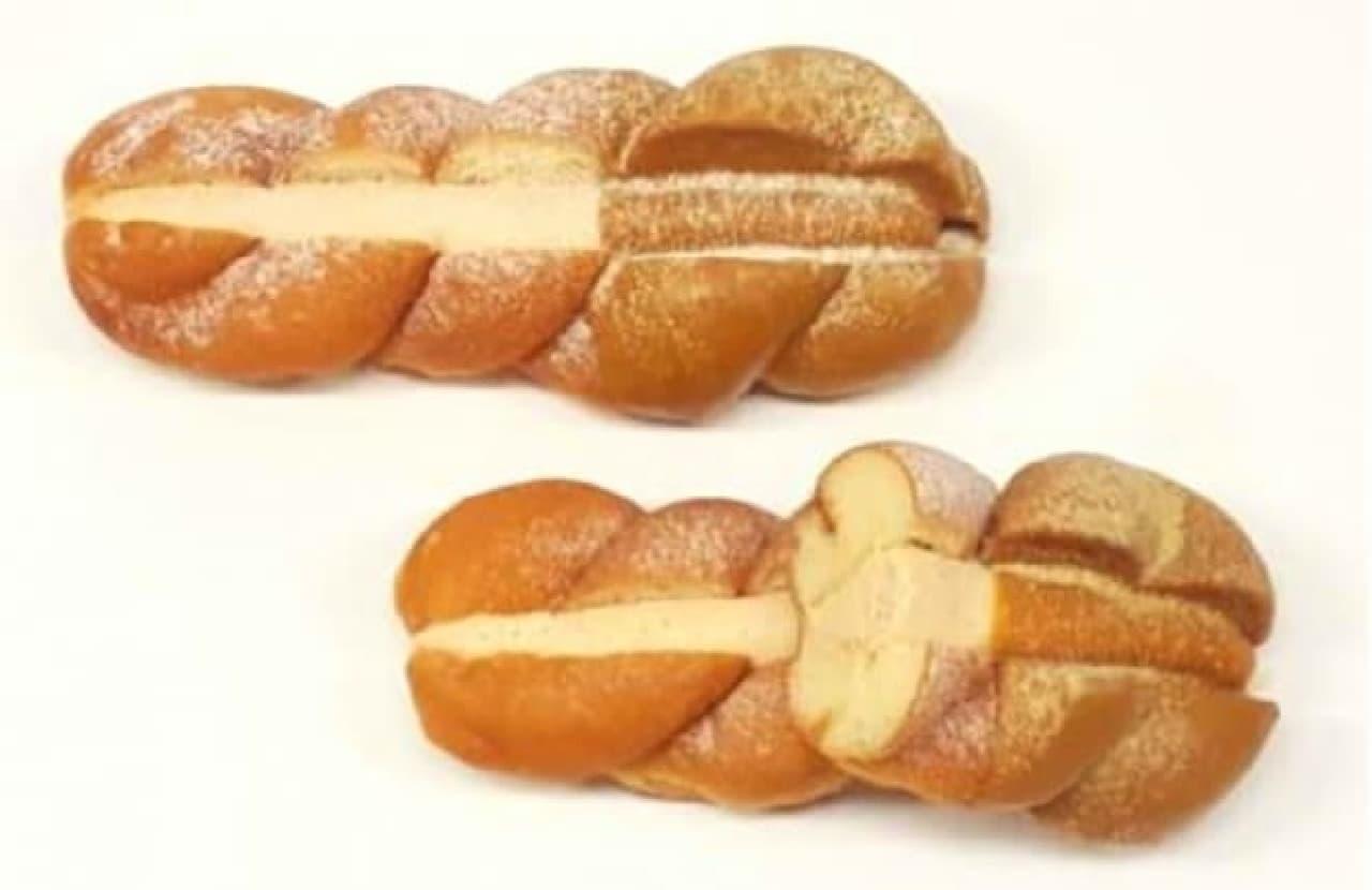 ファミマに濃厚クリーム入りのドーナツ「ツイストサンドドーナツ(キャラメルホイップ)」