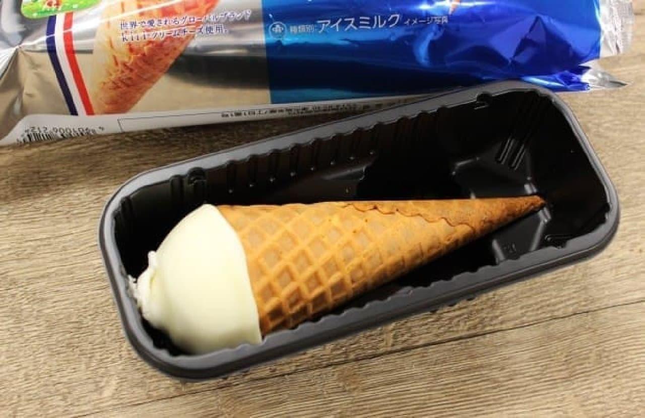 井村屋「kiri クリームチーズコーンアイス」