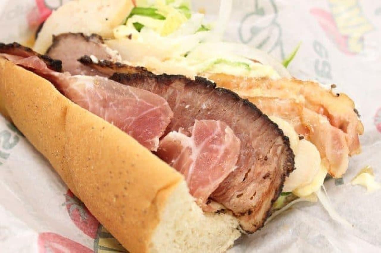 サブウェイ 贅沢肉サンド