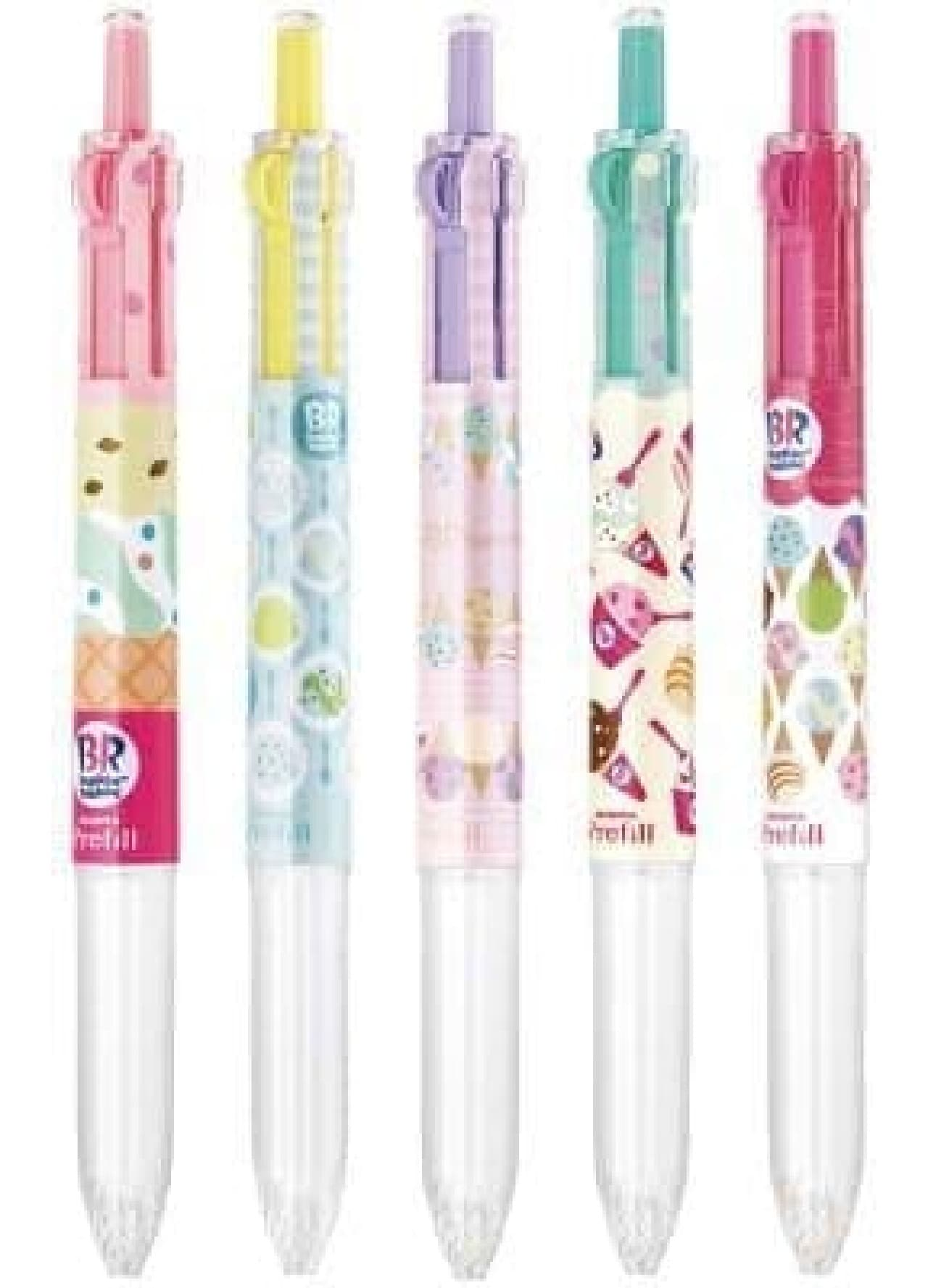 サーティワンアイスクリームとコラボレーションしたボールペン「サラサクリップ×サーティワン」