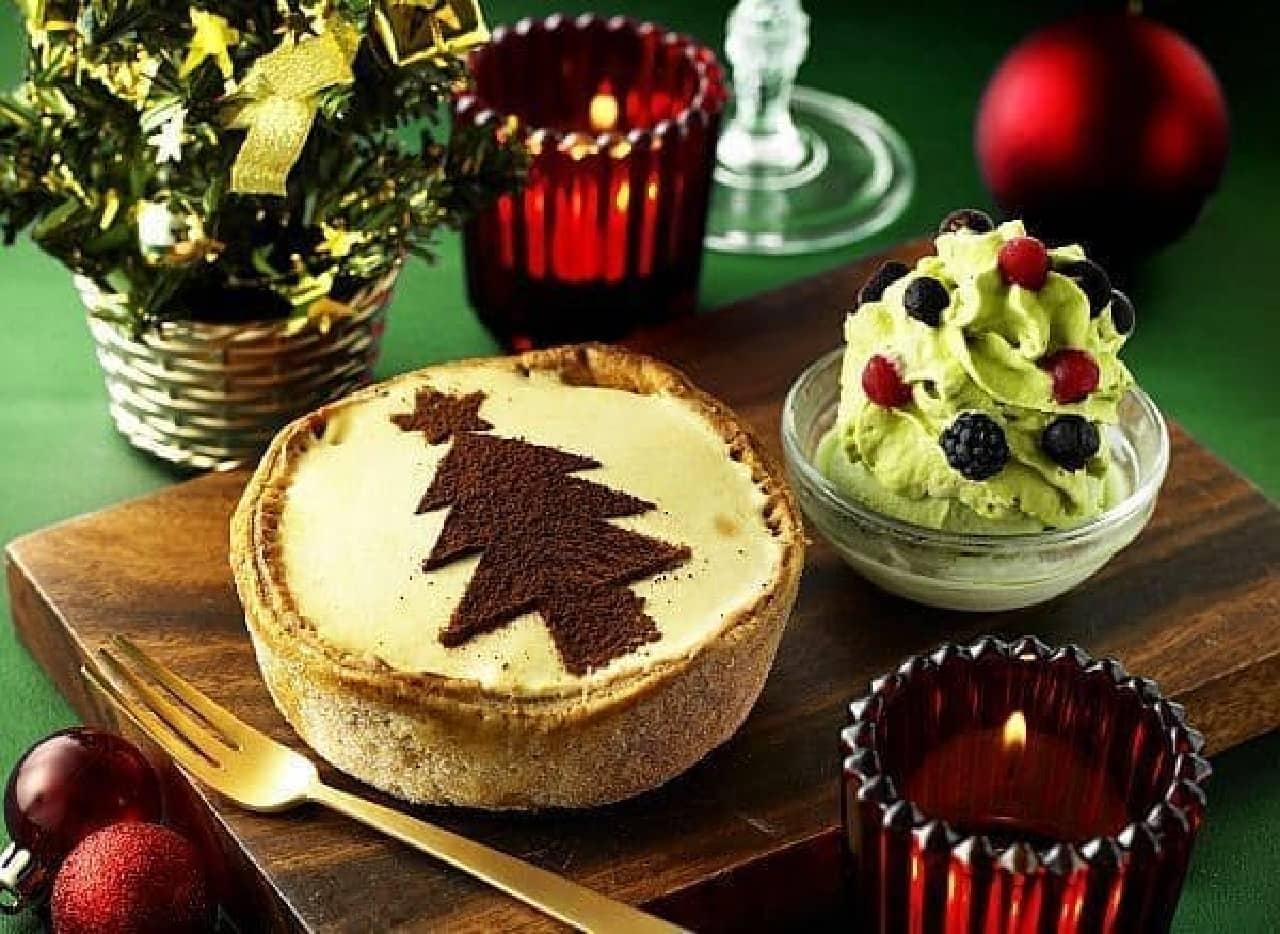 パブロプレミアムカフェ「焼きたてミニチーズタルト クリスマス×キャラメル」