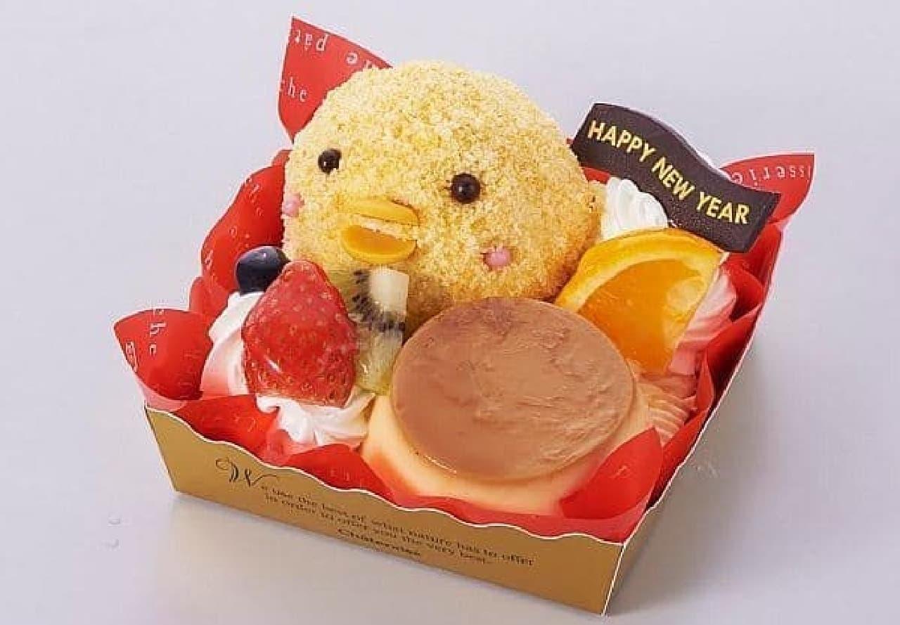 シャトレーゼ「賀正ケーキ ことりのプリンアラモード」