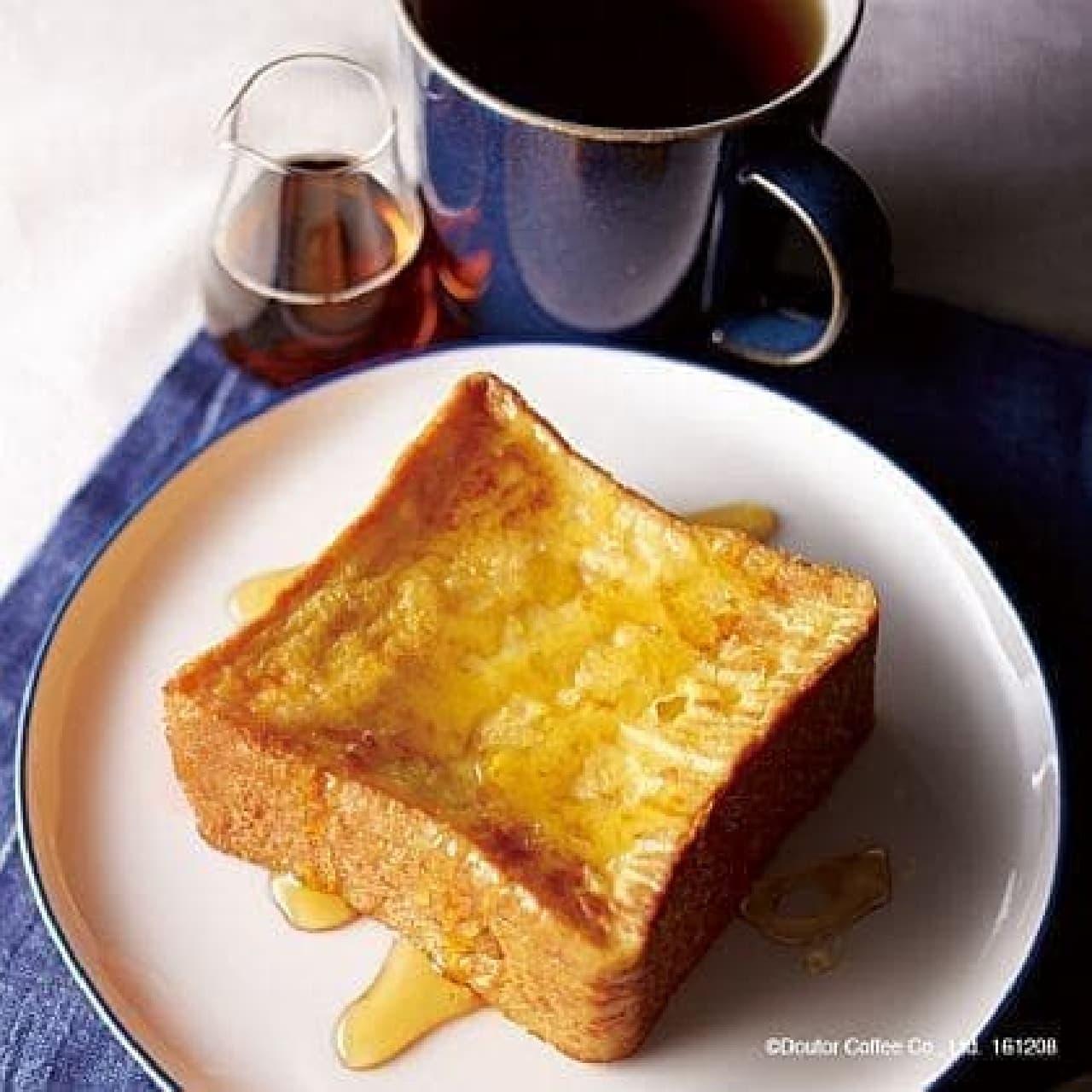 エクセルシオール カフェ「厚切りフレンチトースト(ドリンク付)」