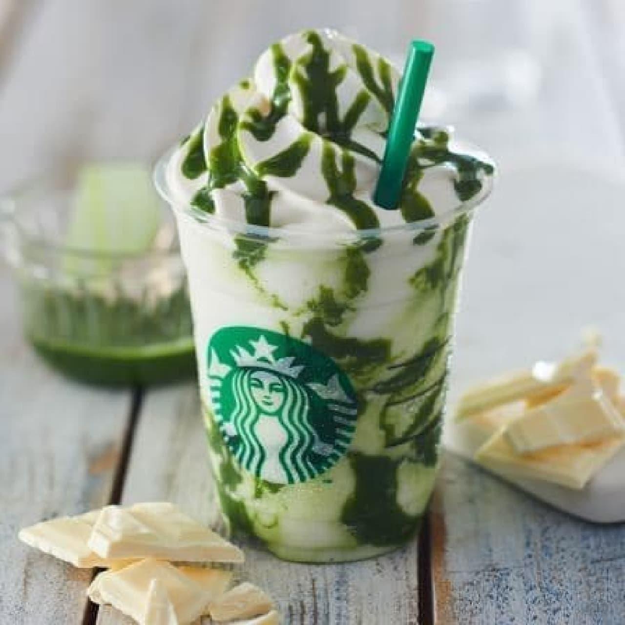 スターバックス コーヒー「抹茶 ホワイト チョコレート フラペチーノ」