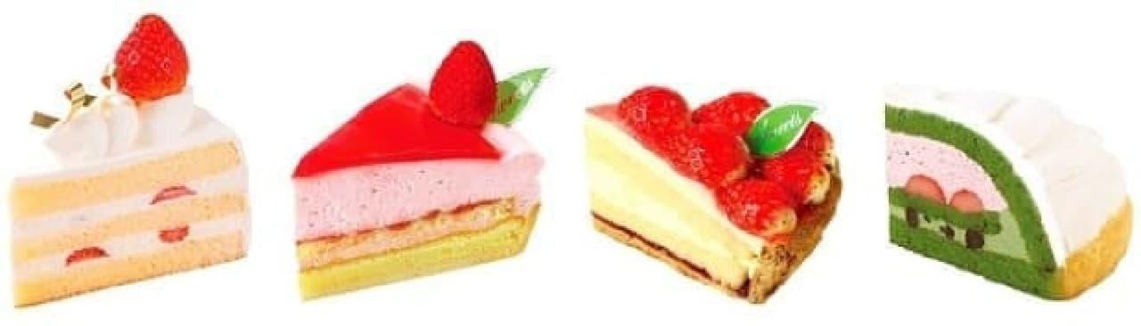 不二家洋菓子店「苺フェア」