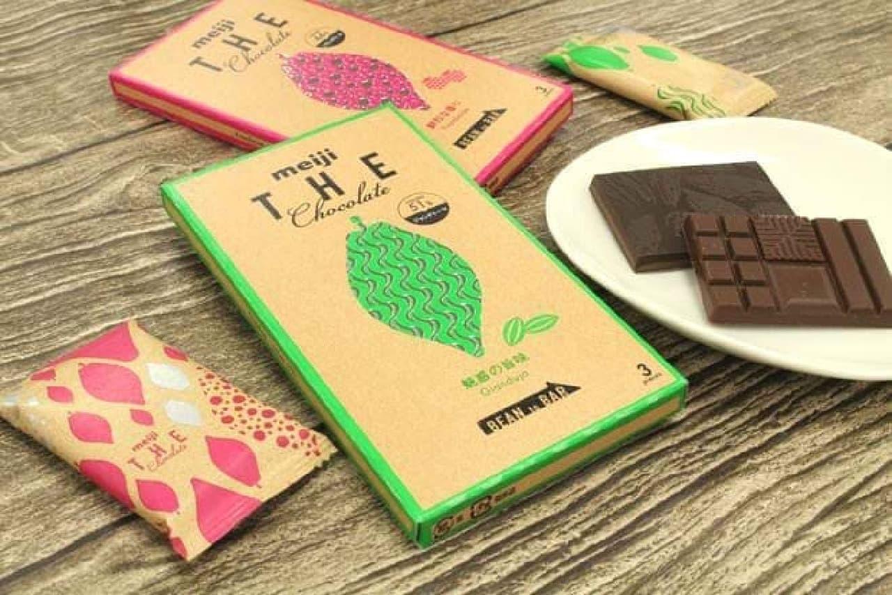 明治ザ・チョコレート「魅惑の旨味ジャンドゥーヤ」「鮮烈な香りフランボワーズ」