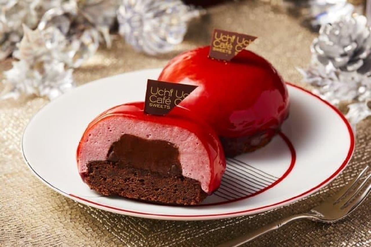 ローソン 赤いクリスマスケーキ(ベリームース&チョコレートガナッシュ)